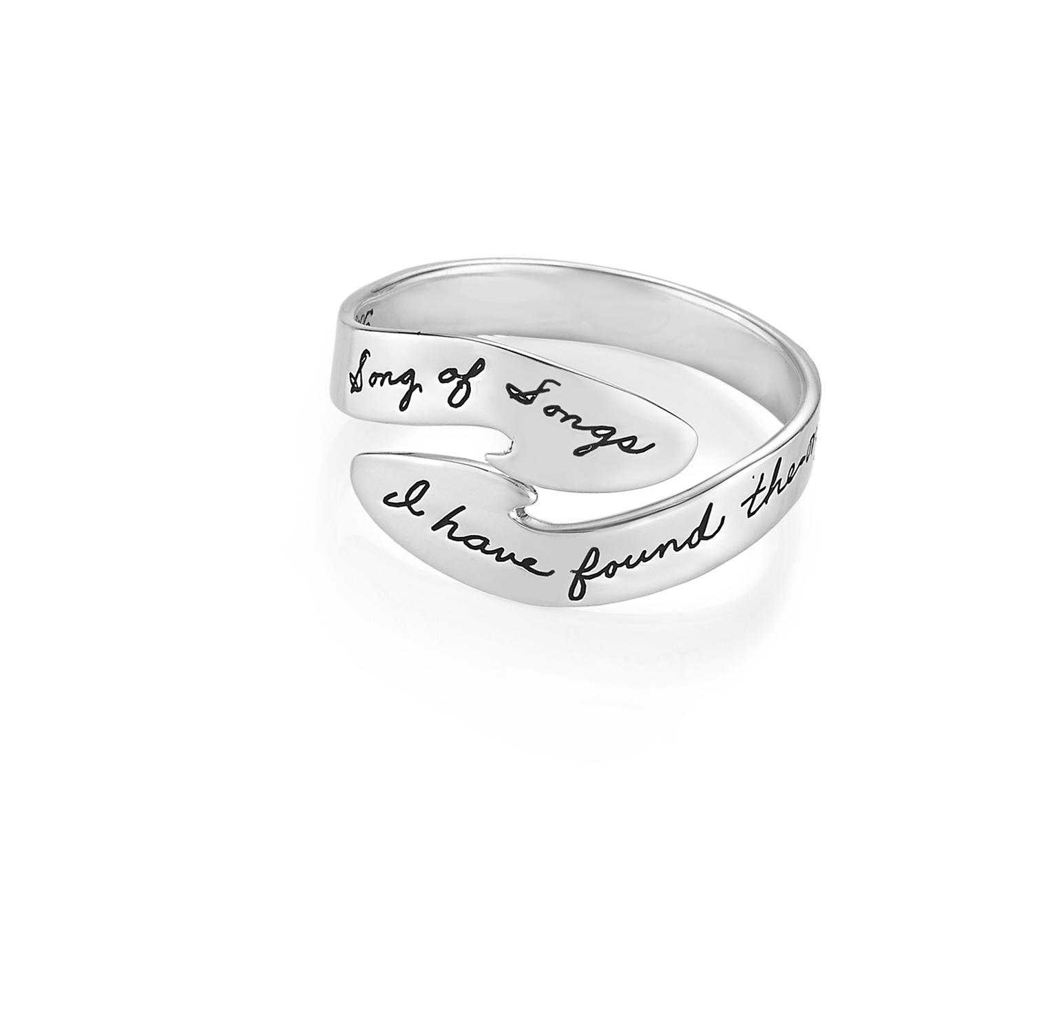Ring with engraved quote - I have found the one whom my soul loves. ~Songs of Songs | BB Becker | Inspirational Jewelry