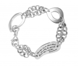 Origianl designer handcrafted bracelet engraved Change is a door that can only be opened from the inside.