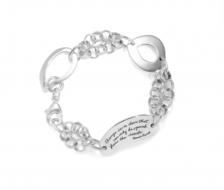 Bracelet with engraved quote - I would not mind if I grow old as long as my true love is near. Baba Farid   BB Becker   Inspirational Jewelry