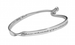 Bracelet for Girlfriend - Whatever Our Souls Are Made Of Quote Engraved on Sterling Silver