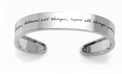 Love Bears All Things - Corinthians Quote Bracelet