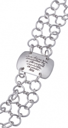 Bracelet Quote Our Lives Are Connected On Sterling Silver