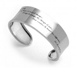 Serenity Prayer Bracelet - God Grant Me The Serenity Quote Engraved on Sterling Silver