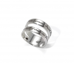 Faith, Hope and Love - Corinthian Quote Ring