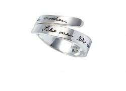 Mother Daughter Ring Like One Like The Other Engraved On Sterling Silver