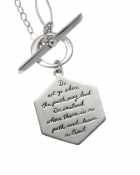 Journey Necklace Emerson's Leave A Trail Quote Engraved On Sterling Silver