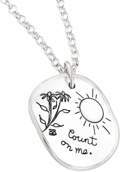 Count On Me - Quote Necklace