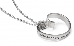 Song Of Beloved - Quote Mobius Necklace