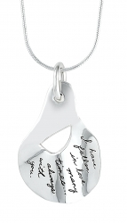 Love Necklace Falling In Love Quote Engraved On Sterling Silver