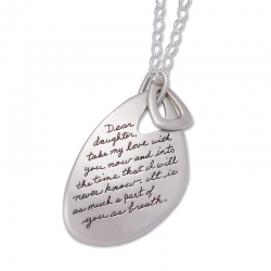 Dear Daughter - Quote Necklace