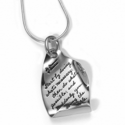 Doing The Impossible - St. Francis Quote Necklace