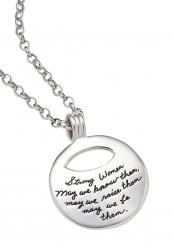 Strong Women, May We Be Them - Quote Necklace