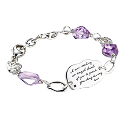 "Bracelet with engraved quote  - ""I am sending an angel ahead of you to guard you along the way."" Exodus 