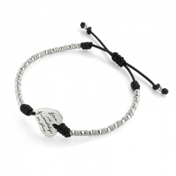 Love Is Friendship - Quote Bracelet With Adjustable Cord