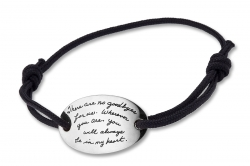 Long Distance Relationship Bracelet No Goodbyes For Us Engraved Sterling Quote