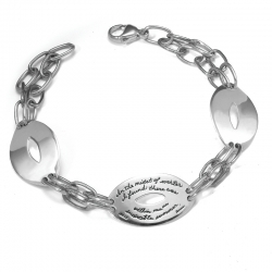 Bracelet with engraved quote - In the midst of winter, I found there was within me an invincible summer. ~Albert Camus | BB Becker | Inspirational Jewelry