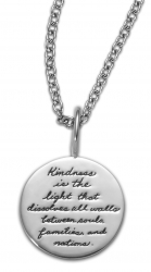 Kindness Is The Light - Yogananda Quote Necklace