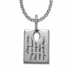 STRONG WOMEN OBLONG STERLING SILVER PENDANT