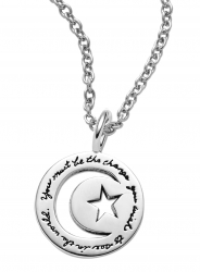 Be the Change - Gandhi Quote Necklace