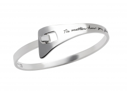 Never Give Up - Quote Bracelet