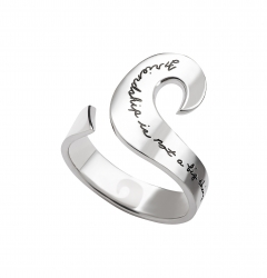BB Becker Sterling silver curl ring Inspirational engraved message reads: Friendship is not a big thing....it's a million little things.