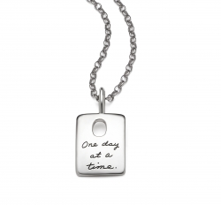 One Day At A Time - Quote Necklace