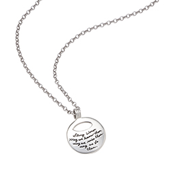 Necklace with engraved quote - Learn to Let Go -- that is the key to happiness.  ~Buddha | BB Becker | Inspirational Jewelry