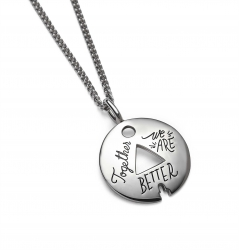 Together We Are Better - Quote Necklace