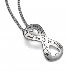 Sisters Laughter- Quote Necklace