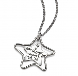 Be Happy For This Moment - Quote Necklace