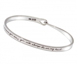 Wherever You Are popular bracelet intricately handmade delicate hook and eye closure and Gandhi quote - There are no goodbyes for us. Wherever you are, you will always be in my heart.