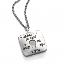 Change Your Life - Quote Necklace