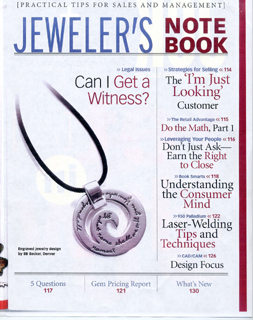 BB Becker featured in Jeweler's Note Book